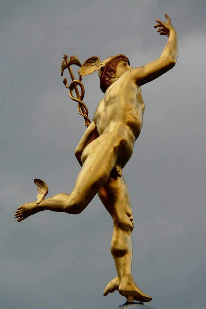 Escultura de Mercurio de Giambologna