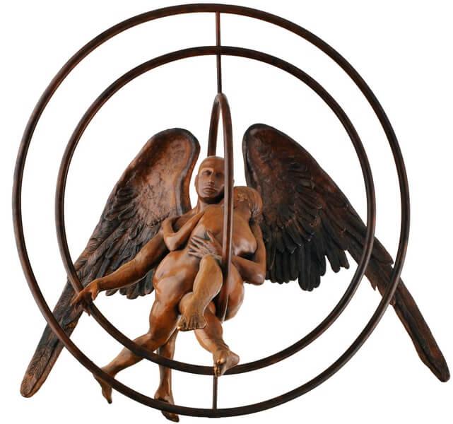 Abrazados-Escultura de Jorge Marín
