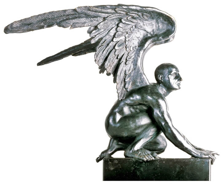 Ángel Arrodillado-Escultura de Jorge Marín