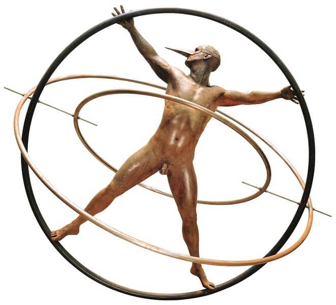 Hombre Universal Monumental-Escultura de Jorge Marín
