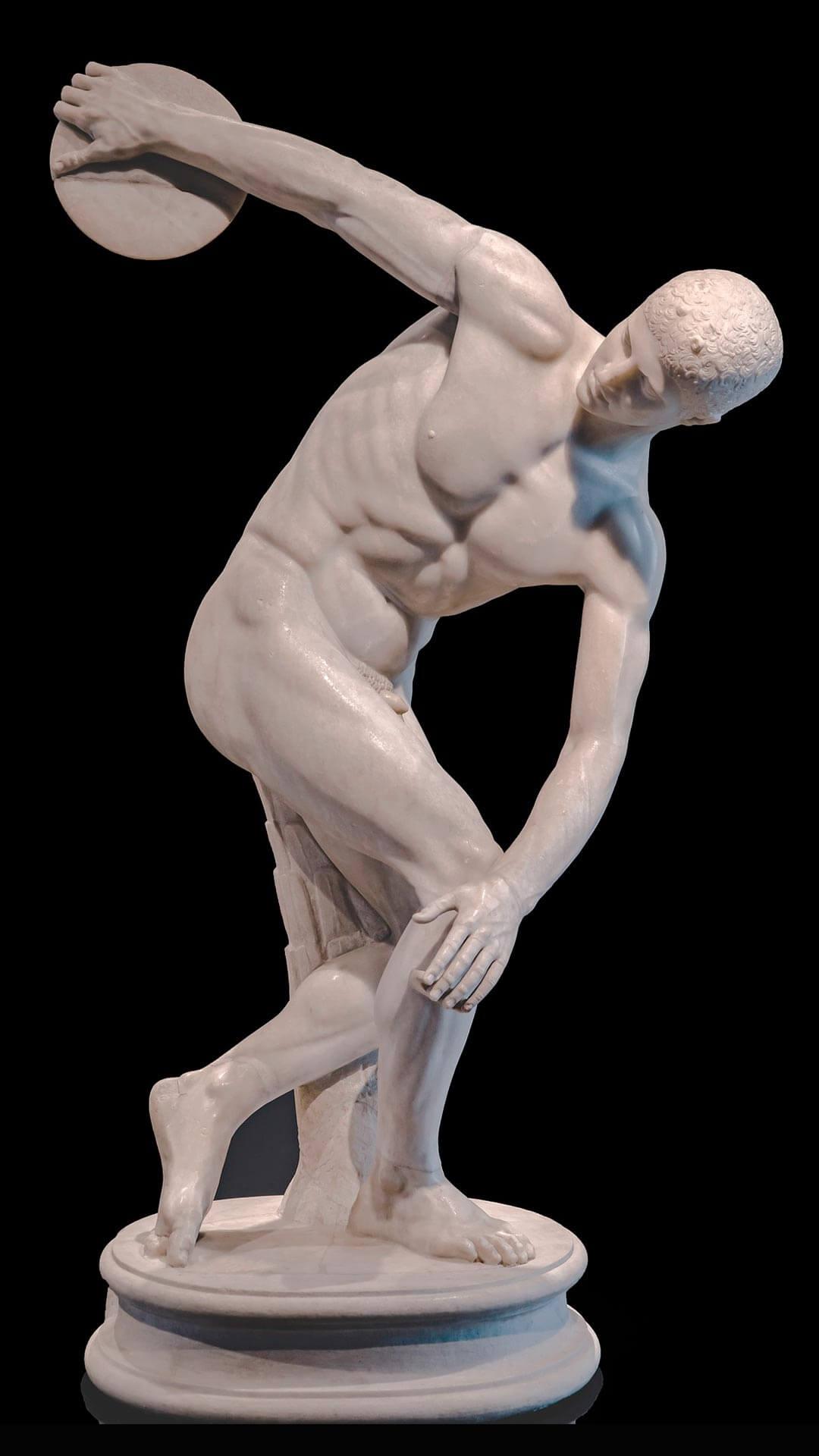 escultura discobolo