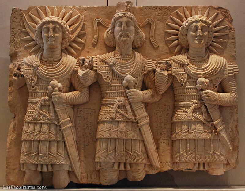 escultura alto relieve