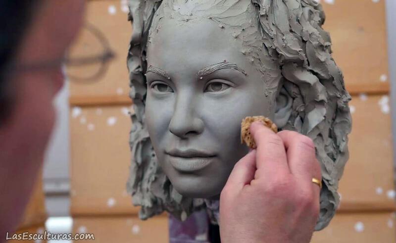 modelado de escultura